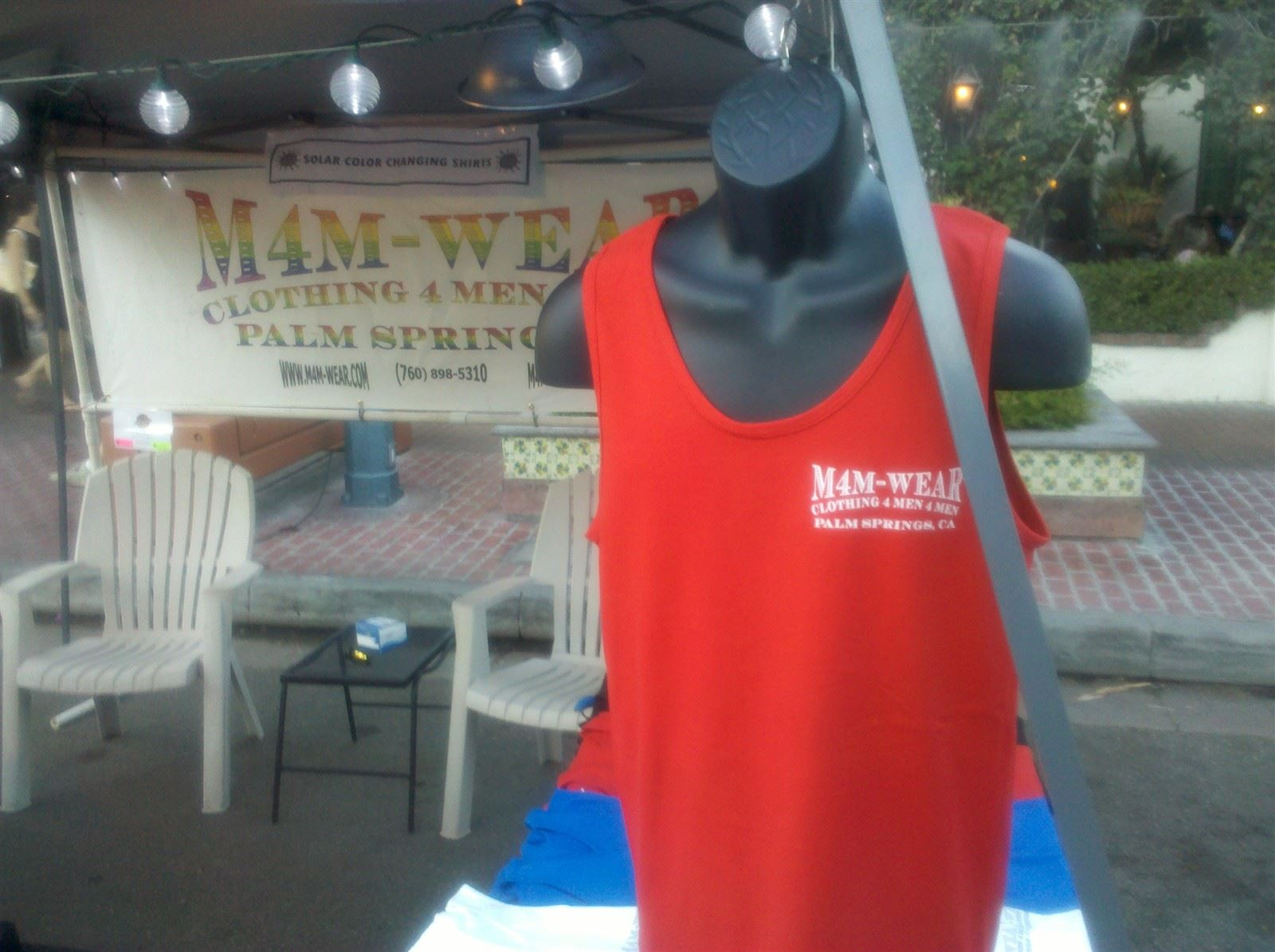 M4M-WEAR Shirt and Booth at Palm Springs Village Fest