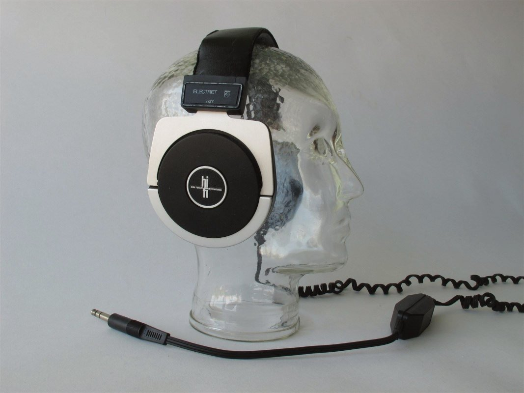 Philips Electret vintage headphones