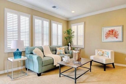 Living room appeal in this San Diego staged home