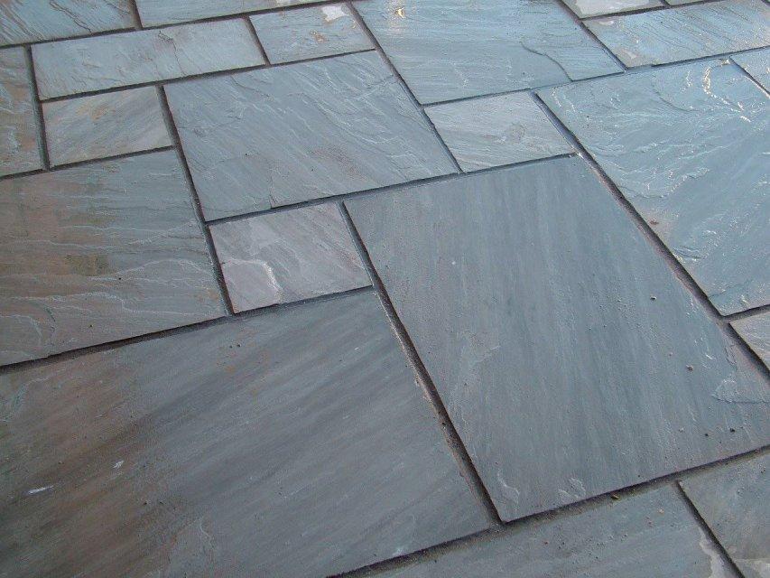 Grey sandstone patio Narberth Pembrokeshire