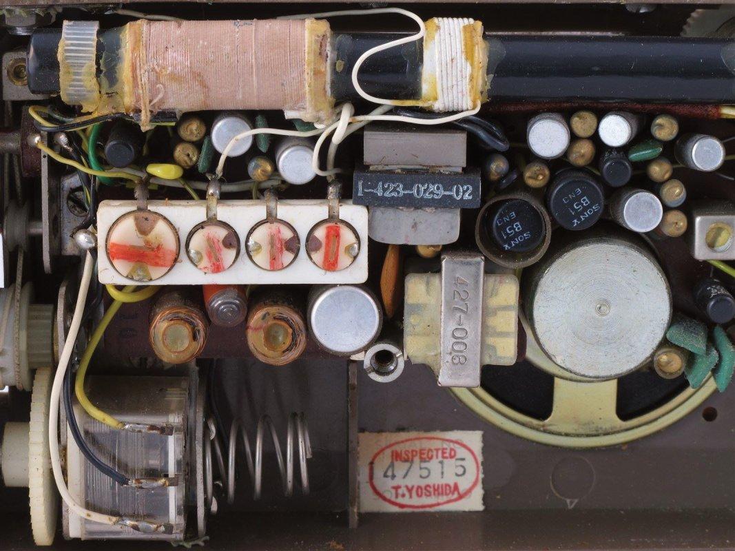 Pocket transistor radio inside
