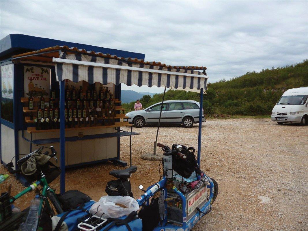 : Sud Croitie, sur la route de Rabac, dégustation et achat d'huile d'olive, ainsi que panorama !