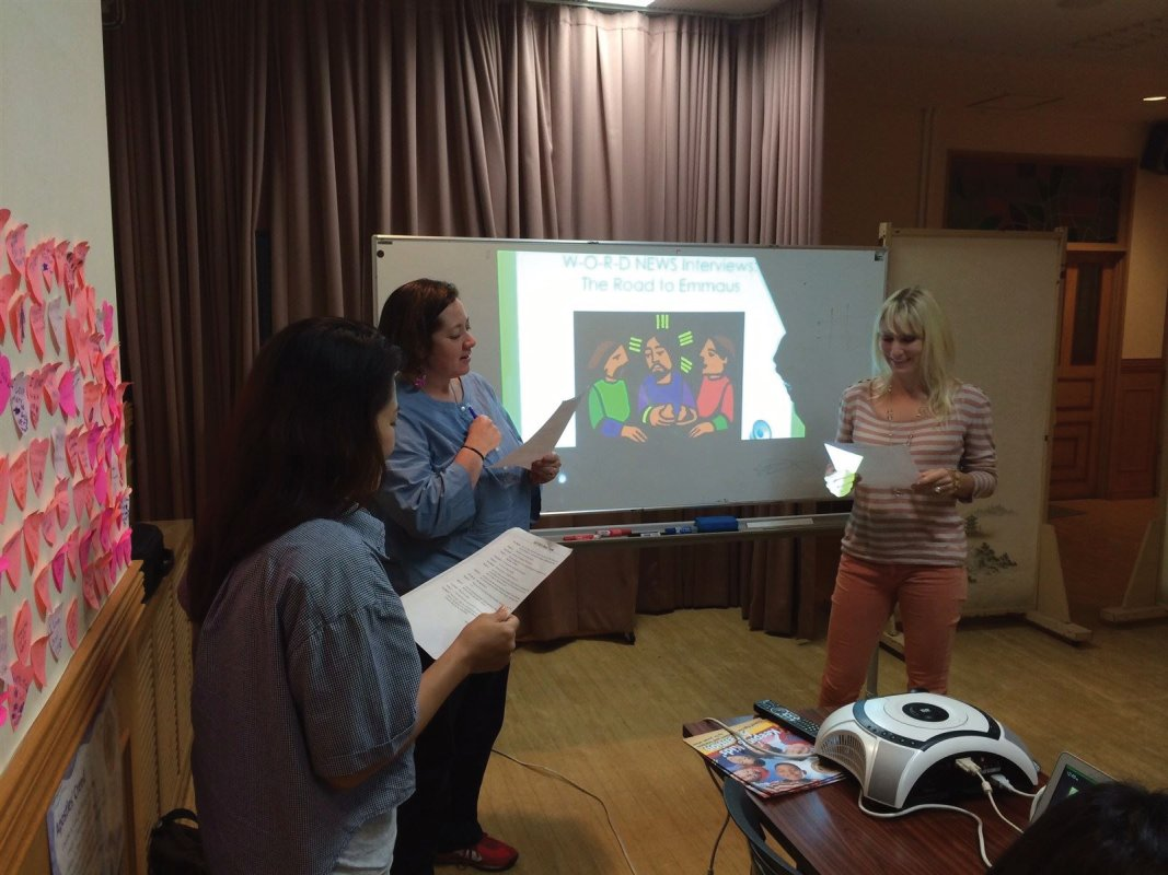 Our skit with catechists in Tokyo.