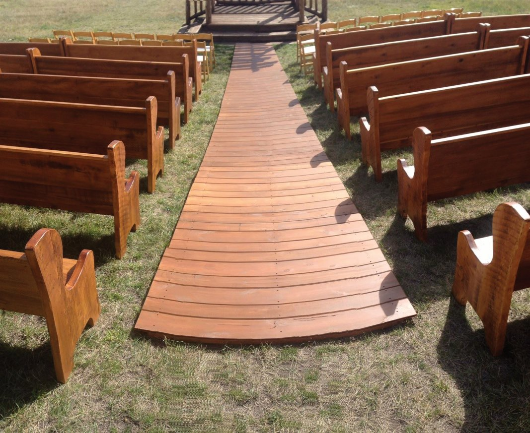 Wood Aisle Runner for Wedding Ceremony and Church Pews