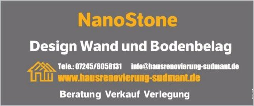 NanoStone Bodenbelag Steinteppich Mikrozement Beton Cirè Karlsruhe Rastatt Ettlingen