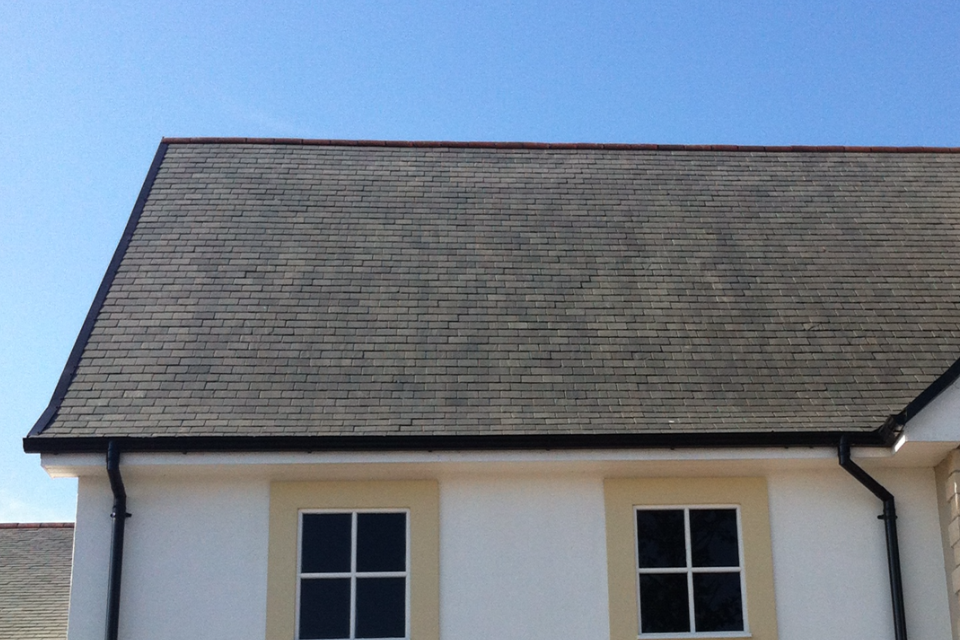 after image of natural slate roof cleaned by HD Roofing Services Ireland