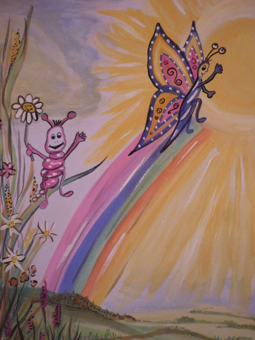 ...Farben des Regenbogens, Weg zum Himmel-Kunsttherapie