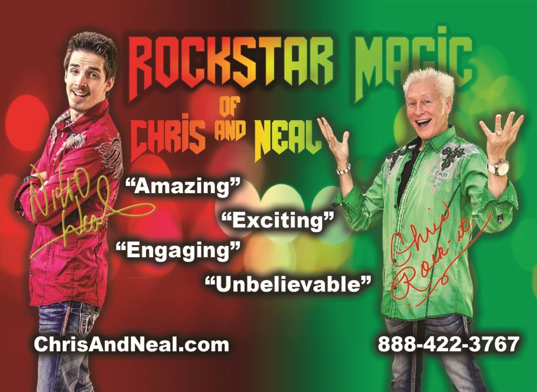 Chris and Neal Magicians in Raleigh, North Carolina Create Amazing, Exciting, Engaging and Unbelievable Fun for children of all ages