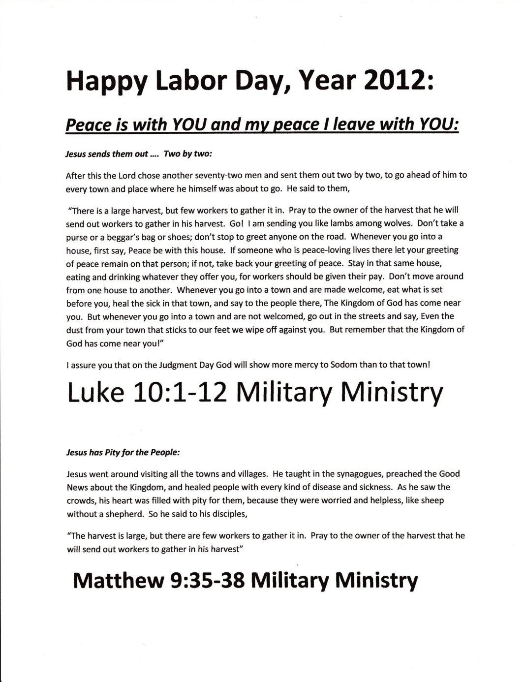 Happy Labor Day, Year 2012