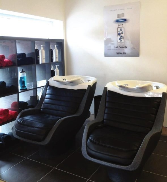 Our massaging basins. The most comfy basins ever! Lie back, relax and have a full body massage whilst you have your hair washed!