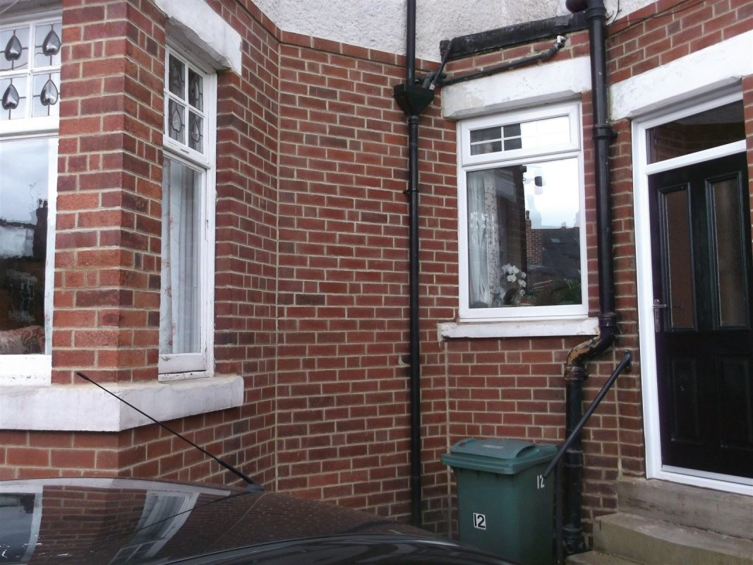 repointed brick work after the paint has been removed all works carried out by leeds pointing