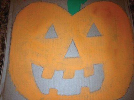 Painted pumpkin.