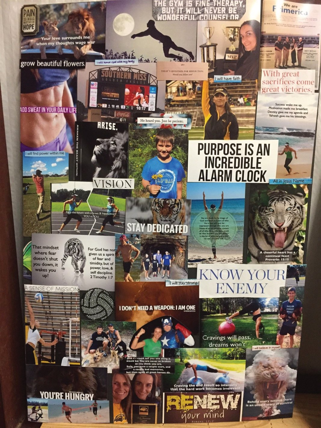 Dream Boards, Freak of Nature Fitness, White Tiger,Tosha Firestone, motivation, Jesus, Christian Athlete, Fit Life