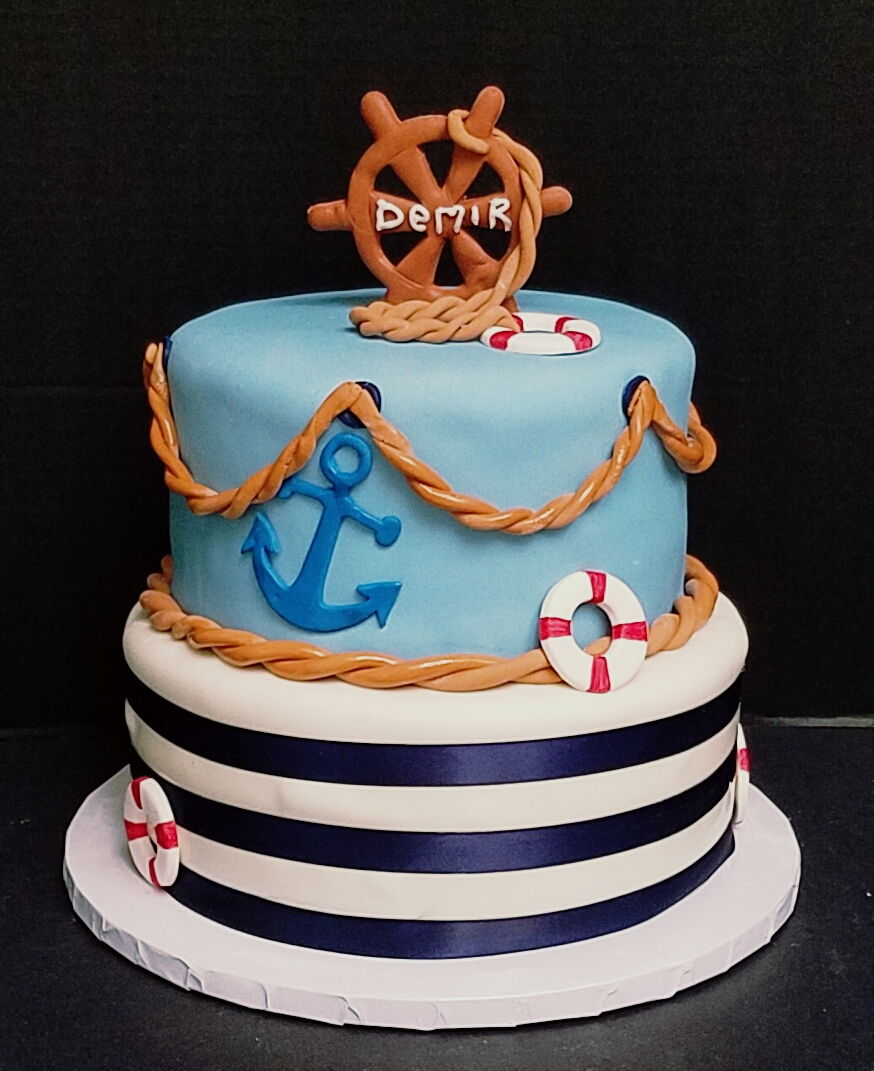 Admirable Nautical Themed Cake Personalised Birthday Cards Sponlily Jamesorg