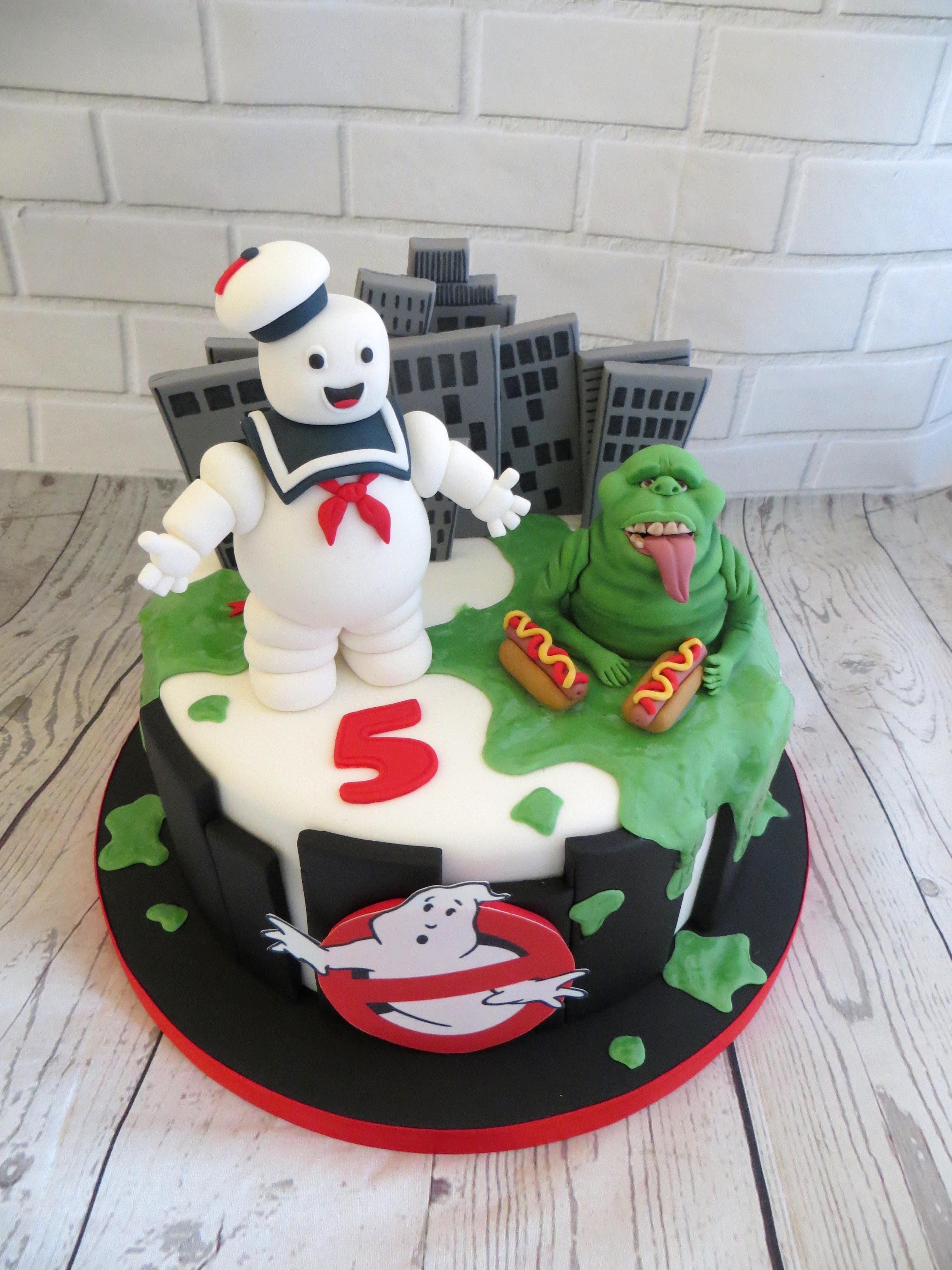 Terrific Ghostbusters Birthday Cake Funny Birthday Cards Online Alyptdamsfinfo