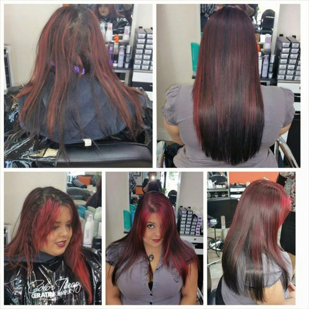 Before and After KC Color with Metamorfix Direct Pigments