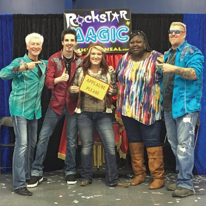 Jacksonville Magicians Chris and Neal with TV Celebrities Ronnie and Amy