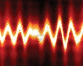 3301905-sound-wave-on-a-bright-red-background