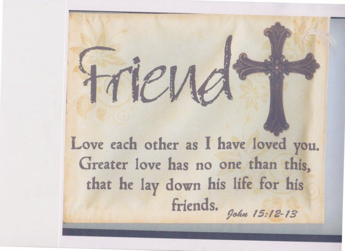 (Love each other)  I choose to believe that
