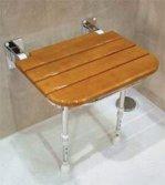folding teak shower seat