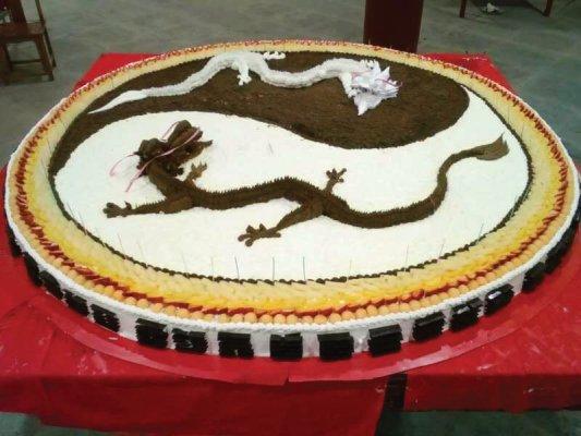 Torte für den Großmeister Zhong Yun Long zu seinem Geburtstag