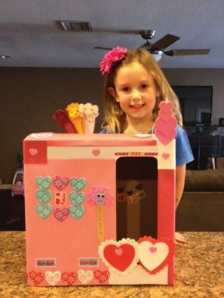 Keep the imagination going...kids have great ideas too! My daughters Valentines puppet theater.