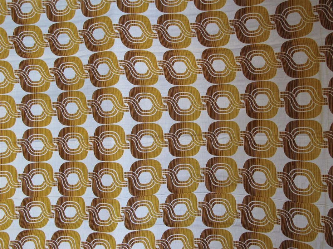 vintage 60's 70's textile curtains