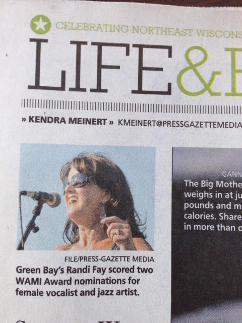 Green Bay's Randi Fay scored two WAMI award nominations for female vocalist and jazz artist