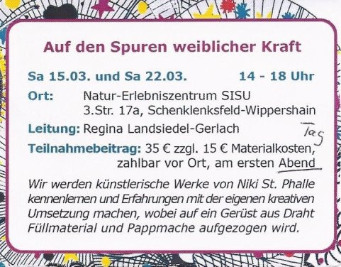 Workshop- Frauenkulturwochen 2014-kunst-kreative Auseinandersetzung mit der eigenen Weiblichkeit