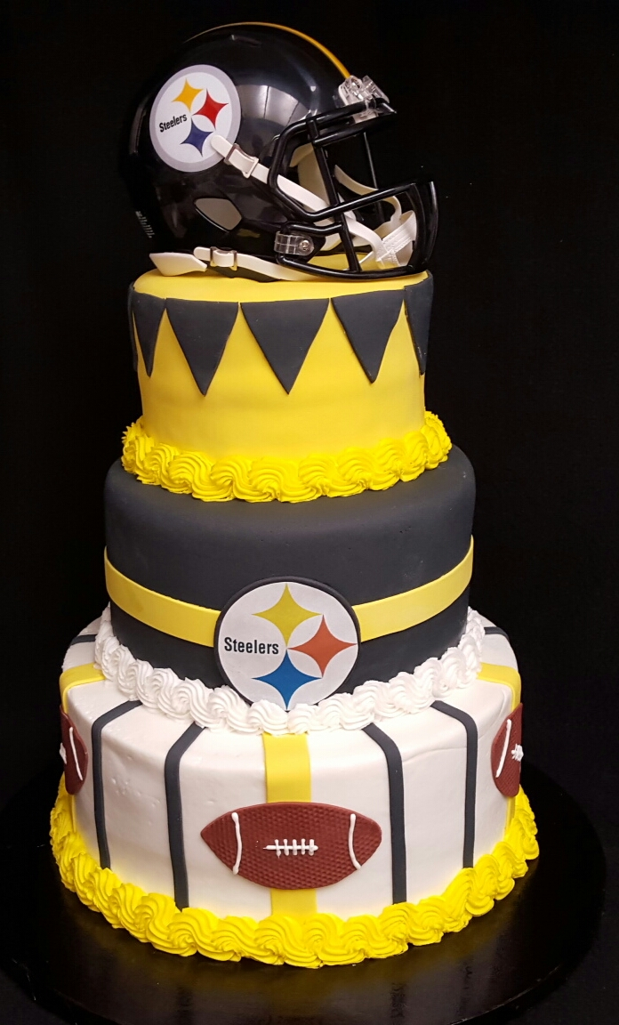 Sensational Pittsburgh Steelers Cake Funny Birthday Cards Online Fluifree Goldxyz