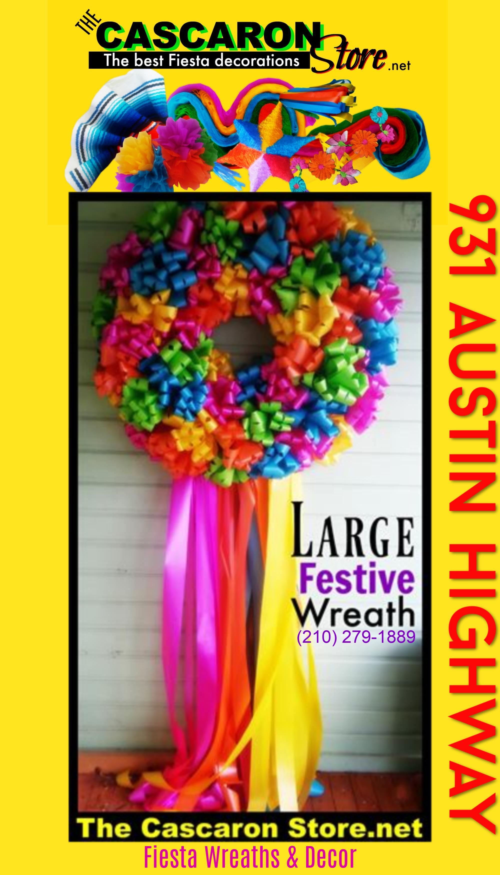 Fiesta Door Wreaths at Alamo Heights, Tx 78209