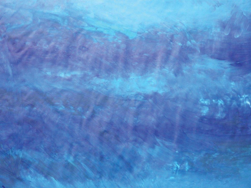 Blau in der Kunsttherapie - Bild: Die tiefe Traurigkeit in mir...