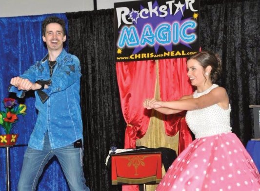 Hilarious Comedy and Interactive Magic from Jacksonville's Magician Team, Rockstar Magic Of Chris and Neal